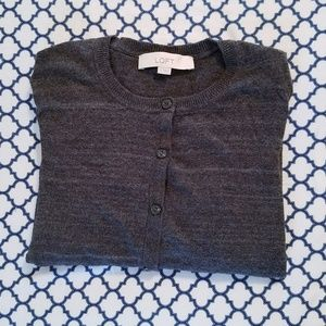 LOFT Charcoal Grey Cardigan
